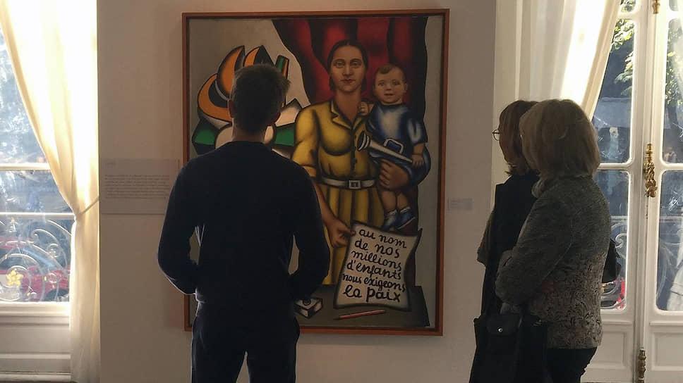 В 1948 году своим плакатным «Материнством» Надя Леже включилась в борьбу за мир под красным флагом СССР