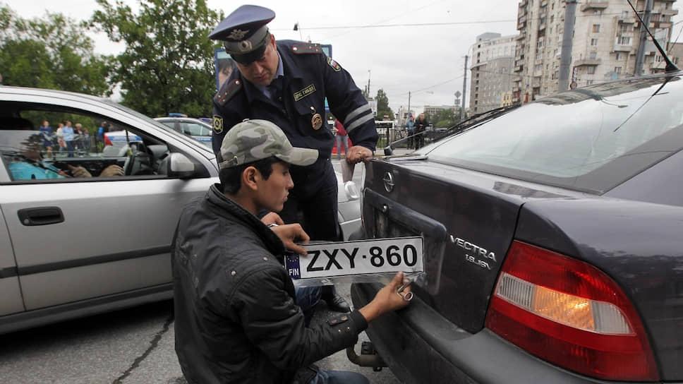 Злостных нарушителей на машинах с иностранными номерами остановят для проверки и заставят уплатить все штрафы
