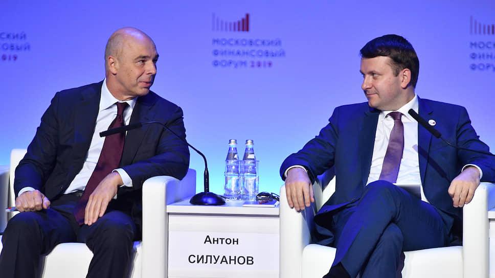Главы Минфина и Минэка Антон Силуанов (слева) и Максим Орешкин