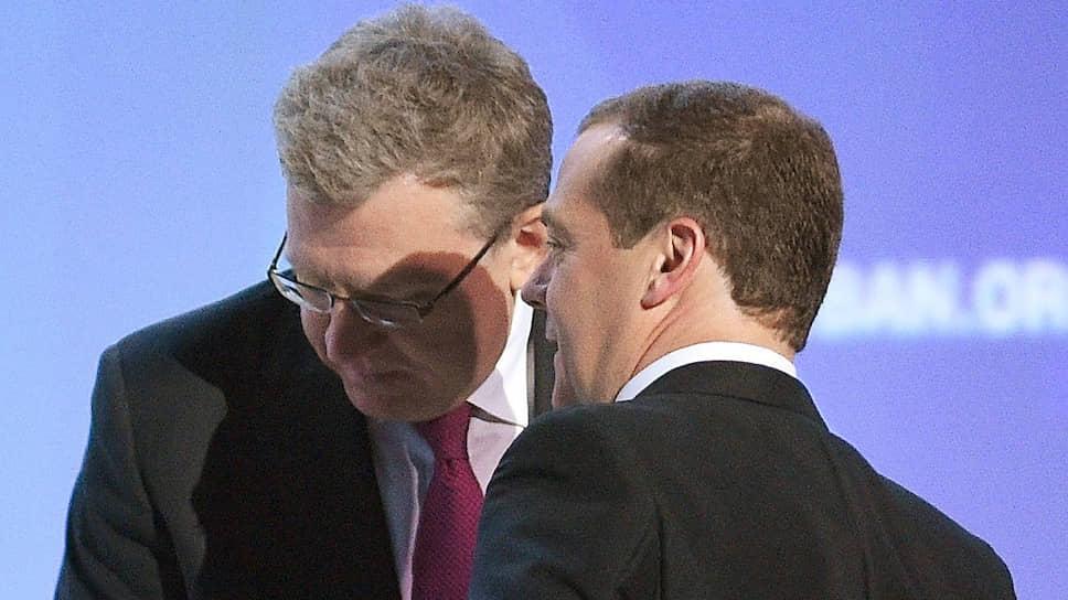 Глава Счетной Палаты Алексей Кудрин доложил премьеру Дмитрию Медведеву о состоянии бюджетных вложений в капитальное строительство