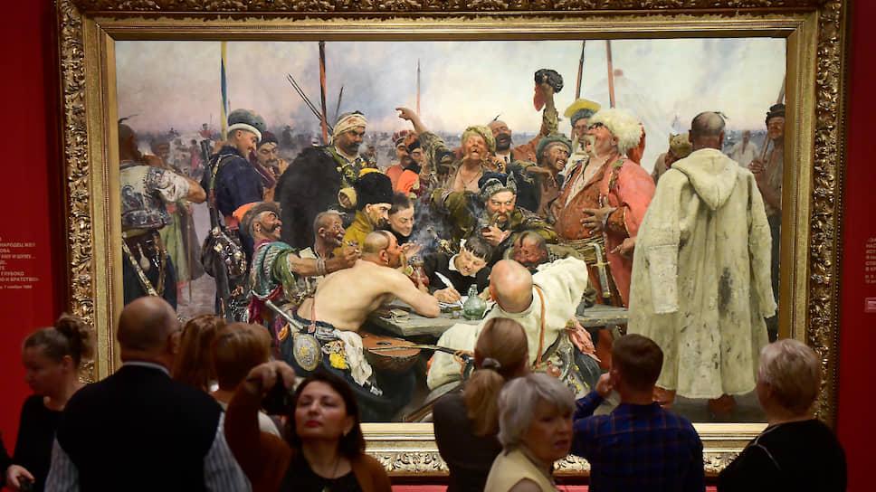 В Петербург приехали почти те же работы, что были на выставке в Москве, но Репин Русского музея совсем иной, чем Репин Третьяковки