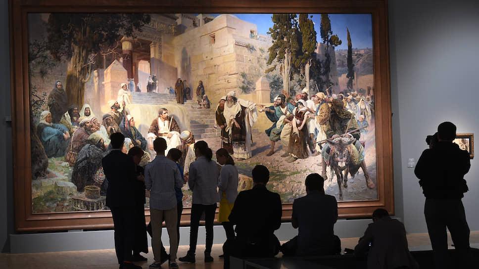 Огромное полотно «Христос и грешница» впервые за 130 лет покинуло стены Русского музея