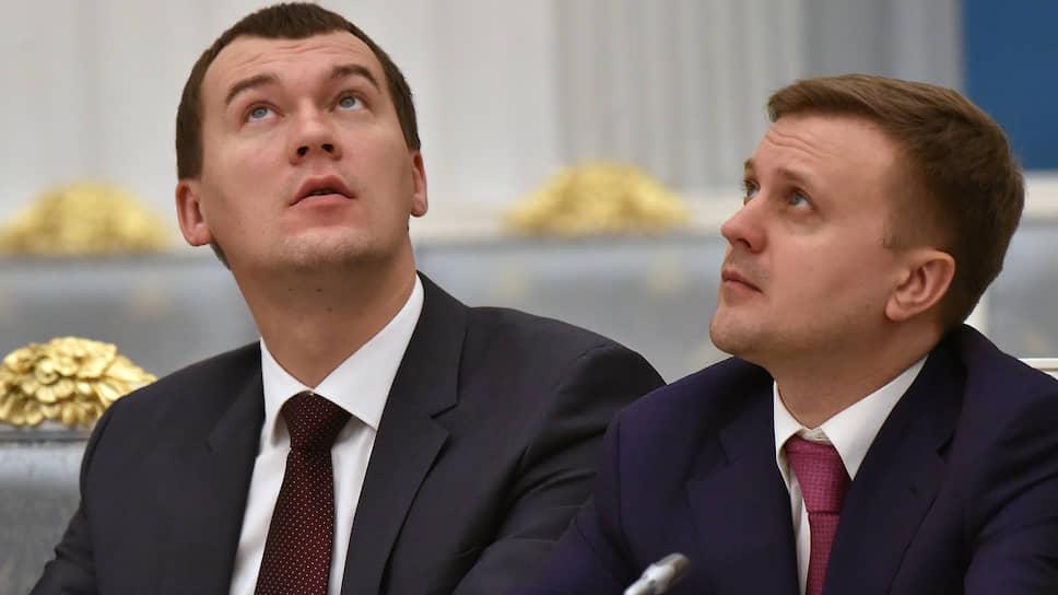 Депутаты от ЛДПР Михаил Дегтярев и Алексей Диденко