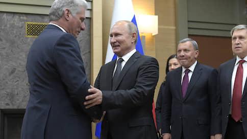Россия и Куба повстречались по-президентски  / Мигель Диас-Канель посетил Москву в новой должности и с прежним настроем