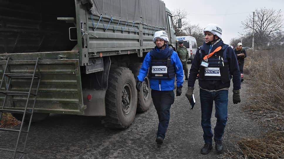 Сотрудники ОБСЕ на линии соприкосновения