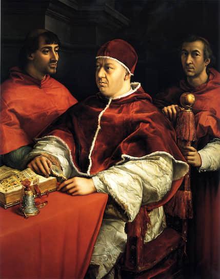 Картина Рафаэля Санти «Портрет Льва X с кардиналами Джулио Медичи и Луиджи Росси»