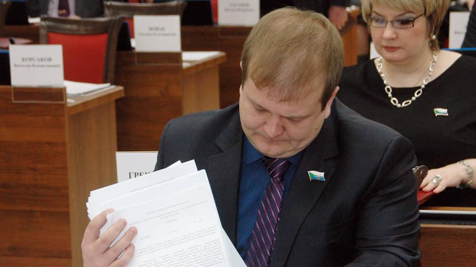 Депутат Сергей Безденежных