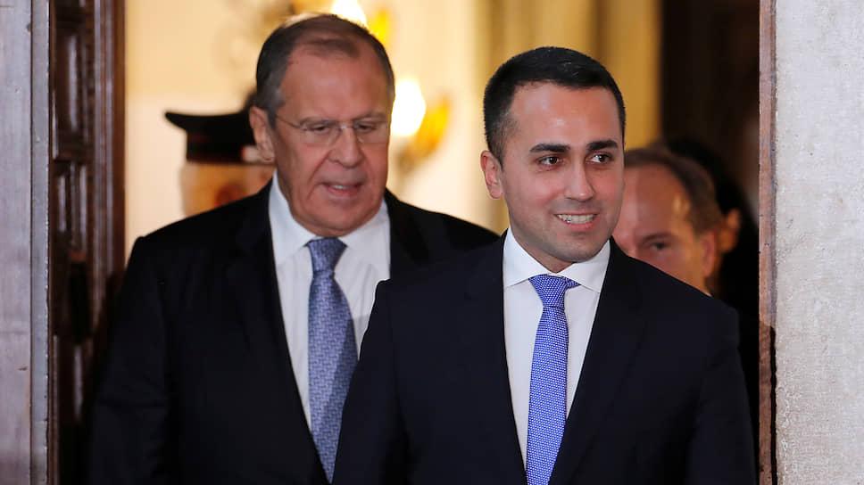 Министр иностранных дел РФ Сергей Лавров (слева) и министр иностранных дел Италии Луиджи Ди Майо
