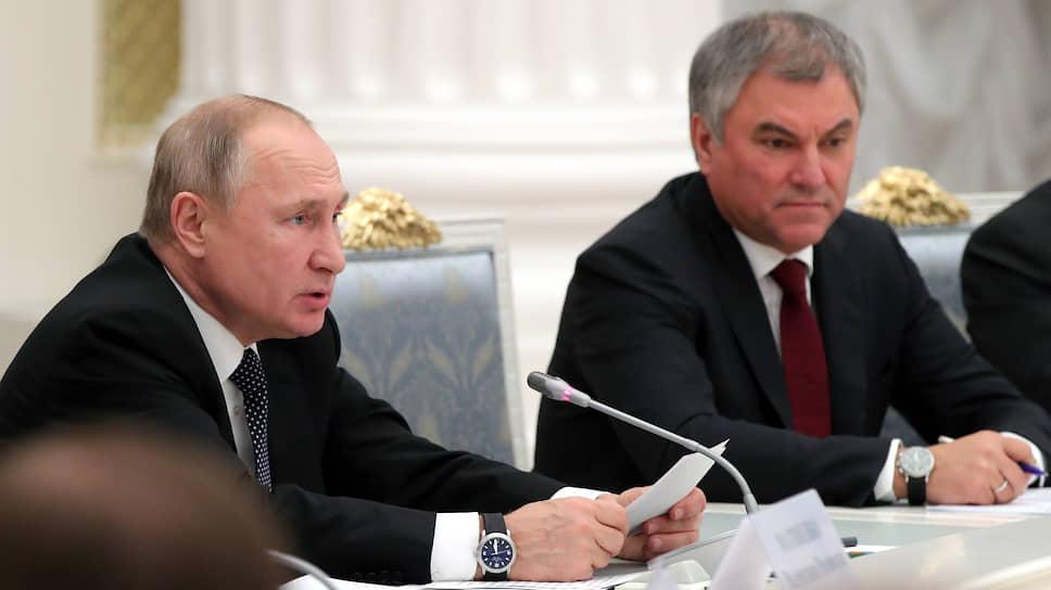 Вячеслав Володин на встрече в Кремле, вторя Владимиру Путину, потребовал от Польши извинений