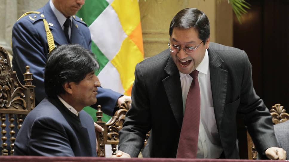 Находящийся в изгнании в Аргентине экс-президент Боливии Эво Моралес (слева) уверен, что Луис Арсе Катакора станет продолжателем его дела