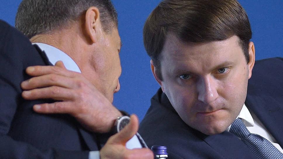 Переход Дмитрия Козака (слева) и Максима Орешкина в администрацию президента добавит сложности конструкции российской власти