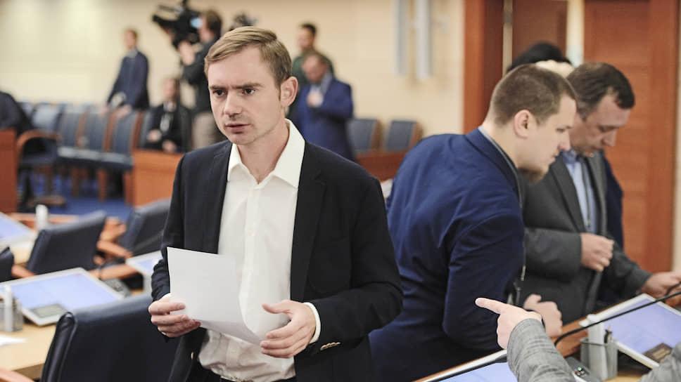 Лидер фракции «Яблока» в Мосгордуме Максим Круглов
