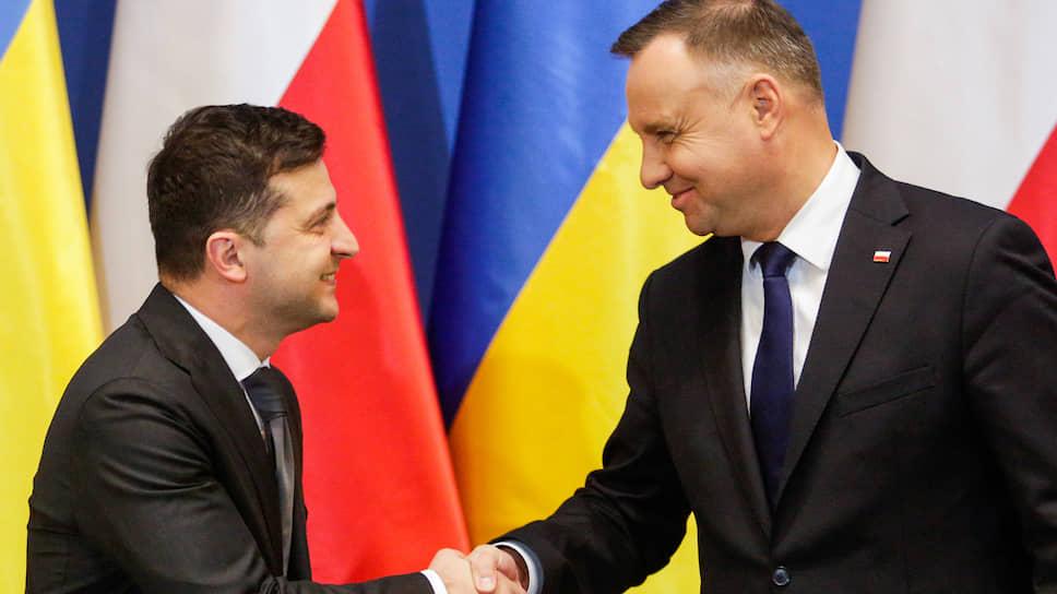 Президент Украины Владимир Зеленский (слева) и президент Польши Анджей Дуда