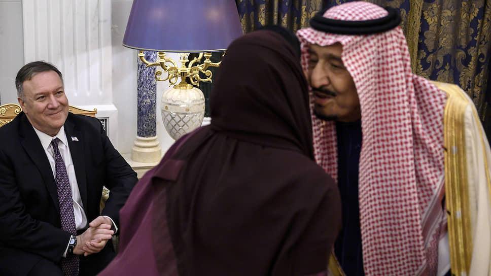 Госсекретарь США Майк Помпео (слева) и король Сальман бен Абдель Азиз Аль Сауд