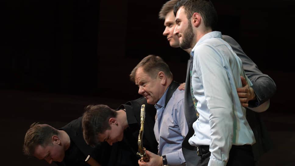 Джазмен Игорь Бутман (в центре)