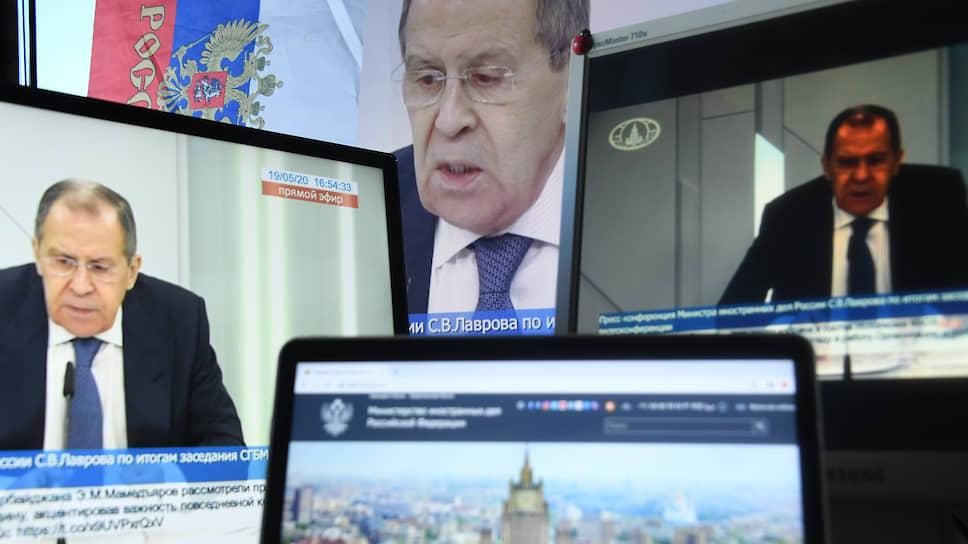 Сергей Лавров как-то сказал, что мероприятия в формате видеоконференции не могут заменить живого общения