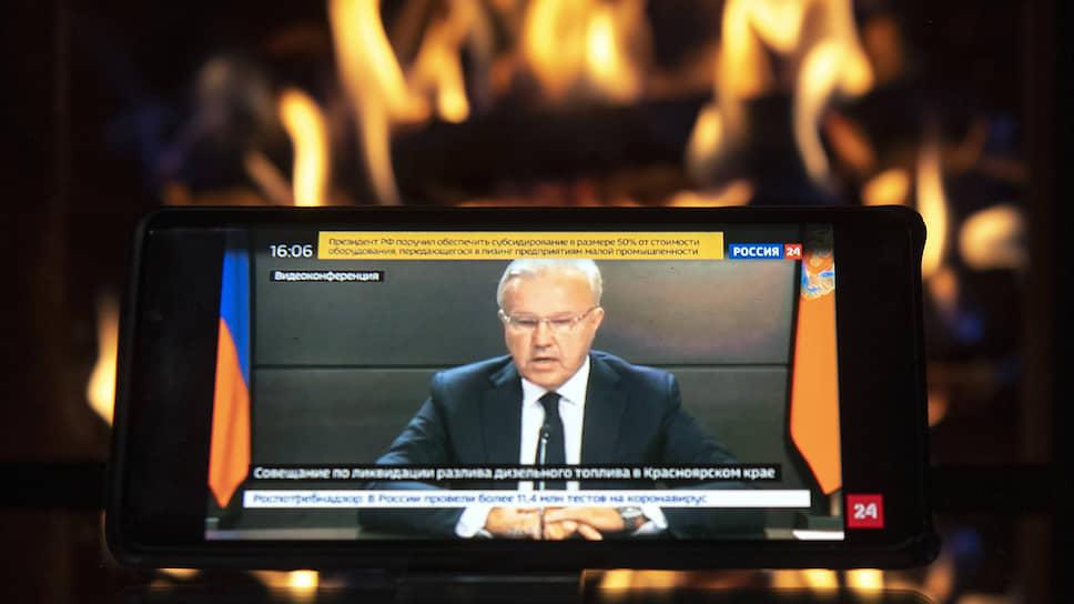 Губернатор Александр Усс докладывал президенту, словно мрачно торжествуя