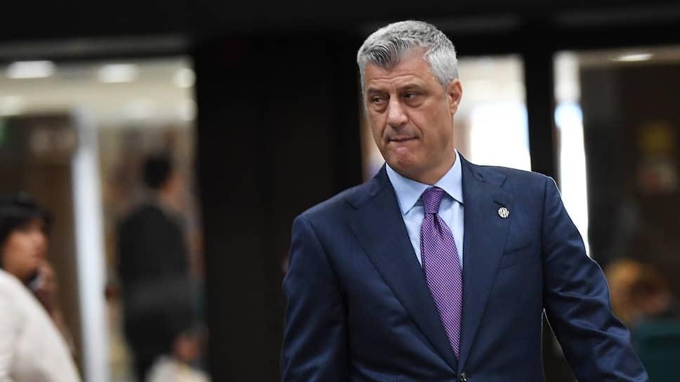 После того как спецпрокуратура Гаагского суда обвинила президента Косово Хашима Тачи в преступлениях против человечности и военных преступлениях, он отменил поездку в Вашингтон