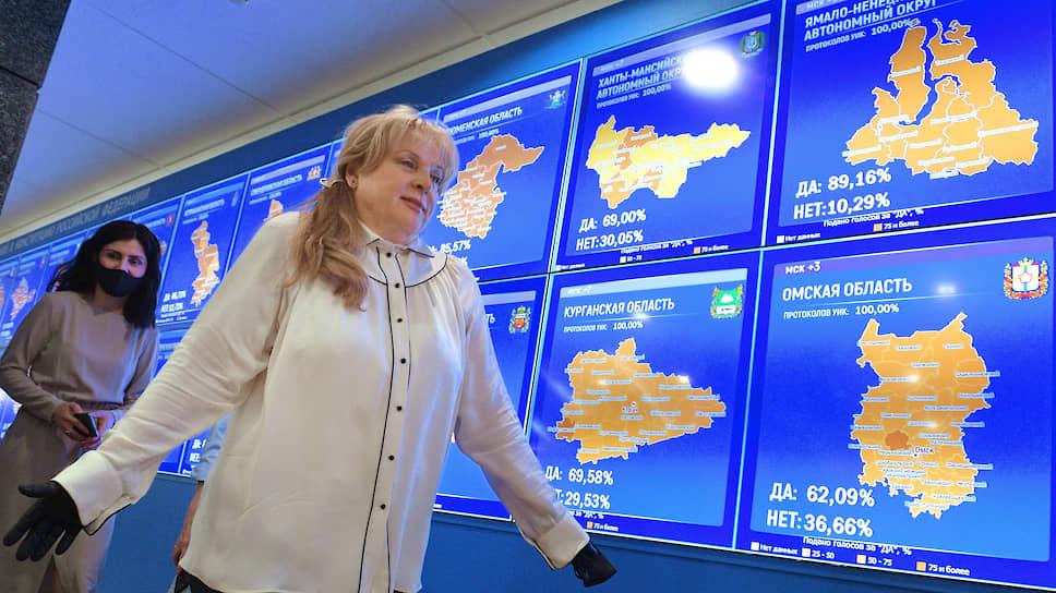 Председатель ЦИК России Элла Памфилова в Информационном центре ЦИК России