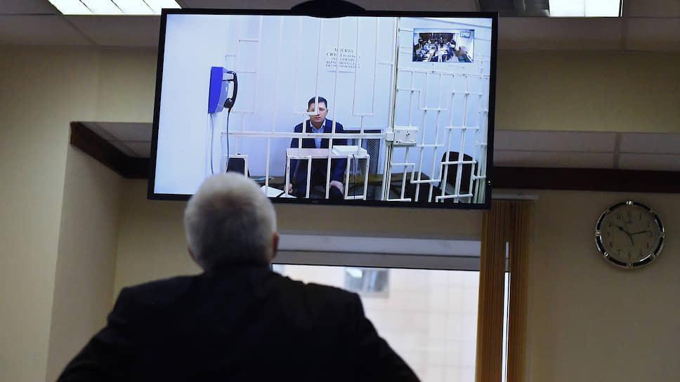 Бывший губернатор Хабаровского края Сергей Фургал (на экране)