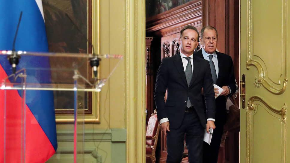 Между главами МИД России и Германии Сергеем Лавровым (справа) и Хайко Маасом на сей раз нашлось гораздо больше сближающих, чем проблемных вопросов