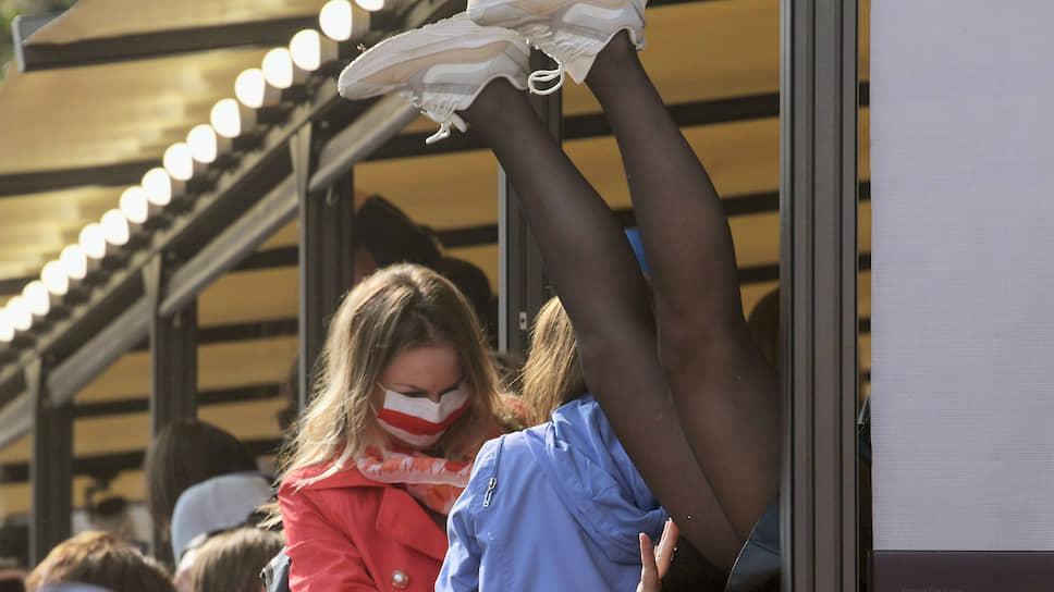 На «Женском марше» в конце концов отказывали ноги