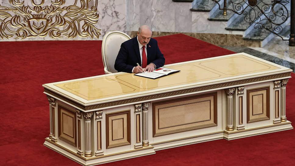 Сама церемония инаугурации Александра Лукашенко ничем не отличалась от пяти предыдущих. Разница состояла в том, что о ней ничего не было объявлено
