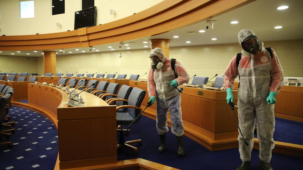 Мосгордума удалится на пленарное заседание