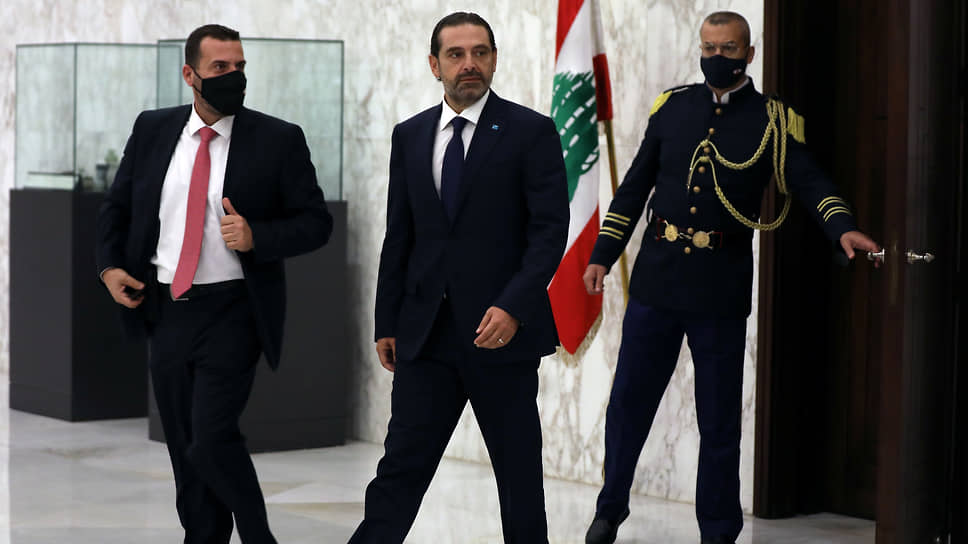 Саад Харири (в центре)