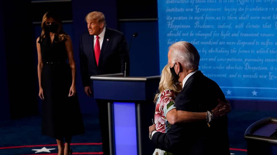 Дональд Трамп и Джо Байден с супругами
