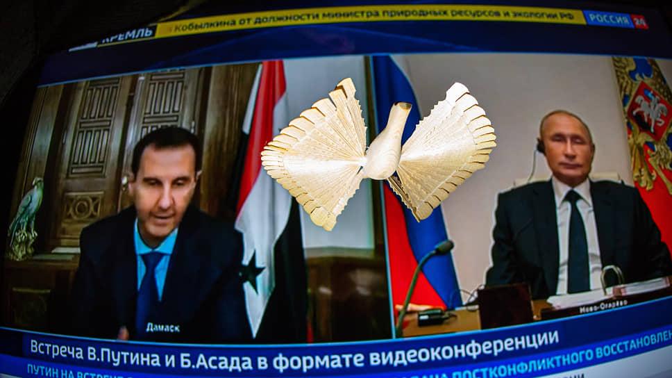 Башар Асад, Владимир Путин и птица Сирии завтрашнего дня