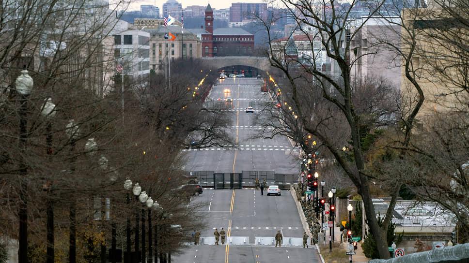 Заблокированный проспект Независимости в Вашингтоне