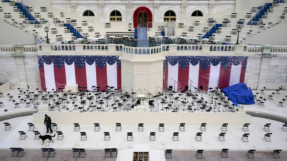 Приготовления к инаугурации Джо Байдена в Капитолии