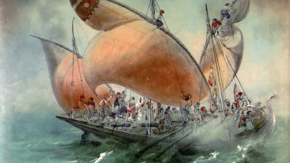 В балете «Корсар» Карл Вальц «топил» 600-пудовый корабль с двумя десятками пиратов на борту