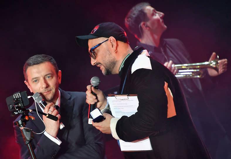 Концерт в честь дня рождения «Гоголь-центра» Алексей Агранович и Кирилл Серебренников вели вдвоем