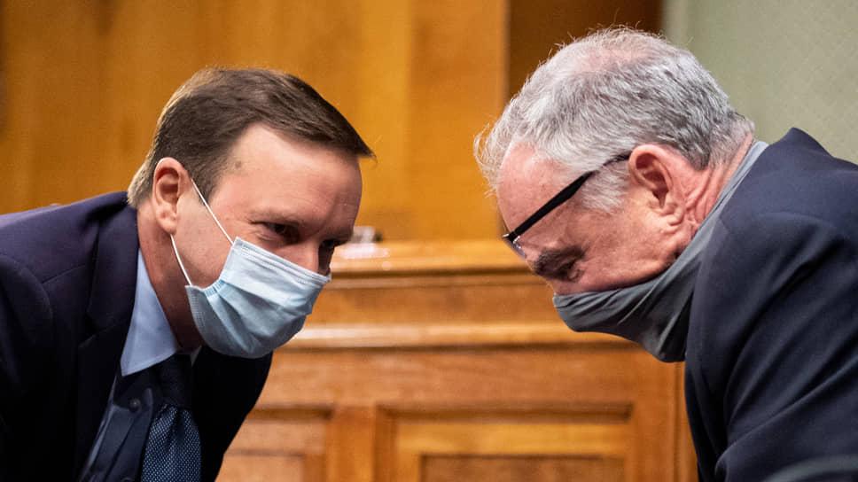 Сенаторы Крис Мерфи и Тим Кейн
