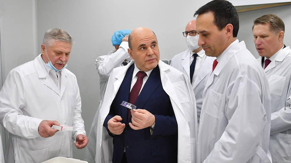 «Вектор» на шприц-дозы / Михаилу Мишустину показали производство «ЭпиВакКороны»