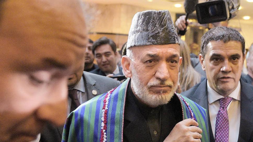 Экс-президент Афганистана Хамид Карзай — непременный участник всех проходящих в Москве встреч по межафганскому урегулированию