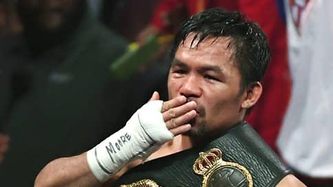 Мэнни Пакьяо потянулся за легендами  / Выдающийся филиппинец собирается вернуться на ринг боем против лучшего бойца мира