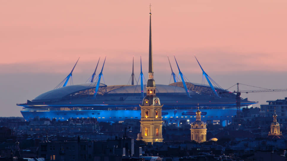 Вид на стадион «Санкт-Петербург Арена»