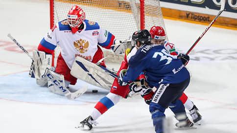 Сборная России отрепетировала поражение  / Ее победную серию прервали финны
