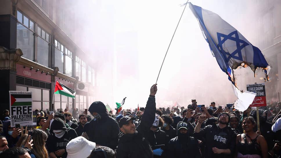 Антиизраильская акция в Лондоне