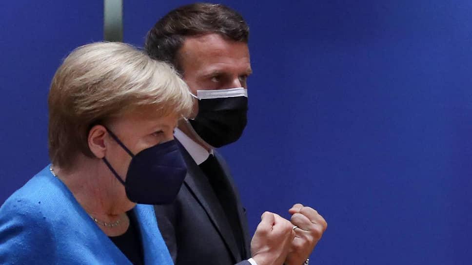 Европейские лидеры (на фото: канцлер ФРГ Ангела Меркель и президент Франции Эмманюэль Макрон) продемонстрировали на саммите ЕС решимость наказать Минск за инцидент с самолетом Ryanair