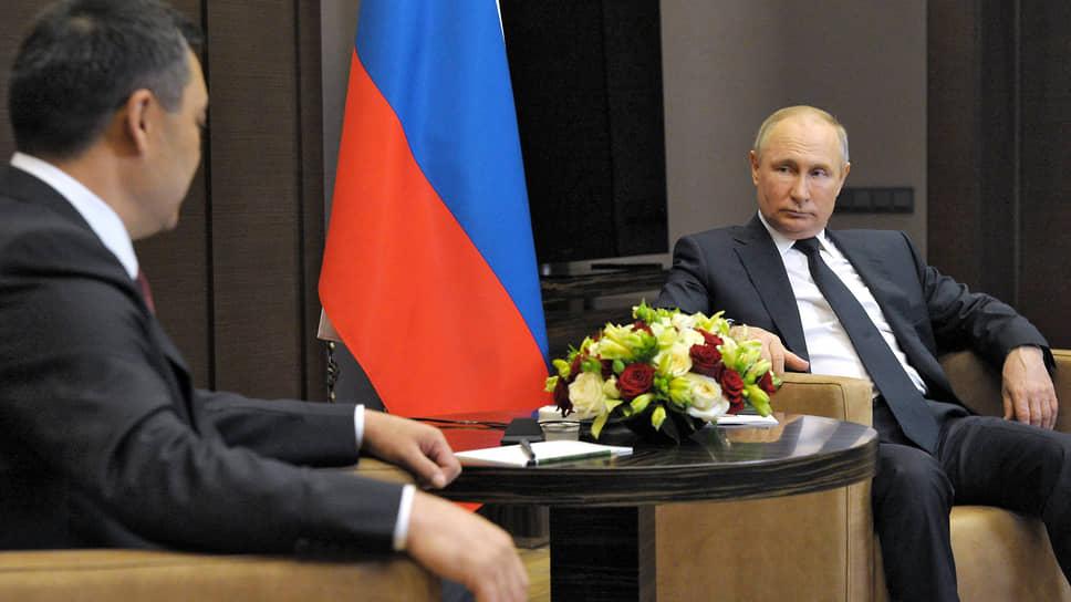 Президент России Владимир Путин и президент Киргизии Садыр Жапаров