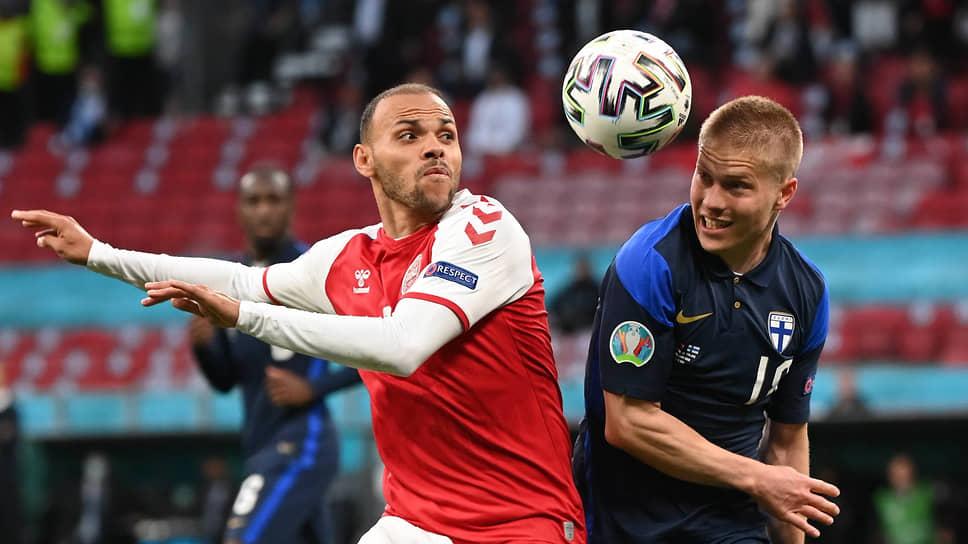 Мобильные форварды (слева — Мартин Брейтуэйт) — одна из потенциальных угроз для сборной России в матче с датчанами