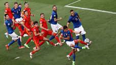 Сборная Италии пропустила валлийцев  / Минимальное поражение от фаворитов вывело команду Уэльса в play-off