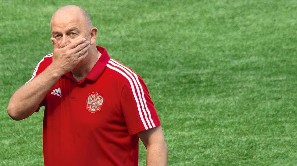 Станислав Черчесов — единственный пока тренер сборной России, которому удалось вывести команду из группы на чемпионате мира