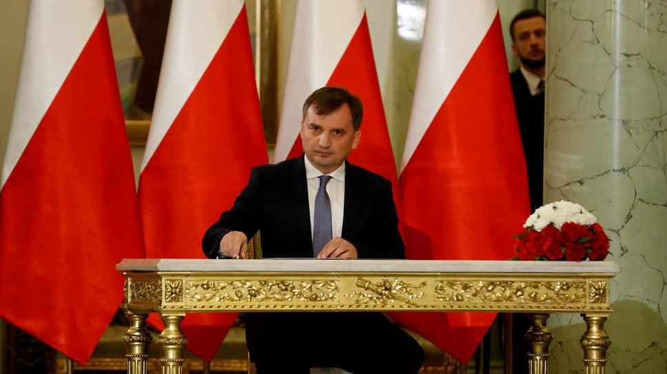 Министр юстиции Польши Збигнев Жёбро