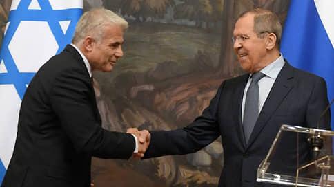 Министры оказались на дружеской волне  / Настроение главам МИД России и Израиля не испортили ни иранский вопрос, ни сирийский, ни палестинский