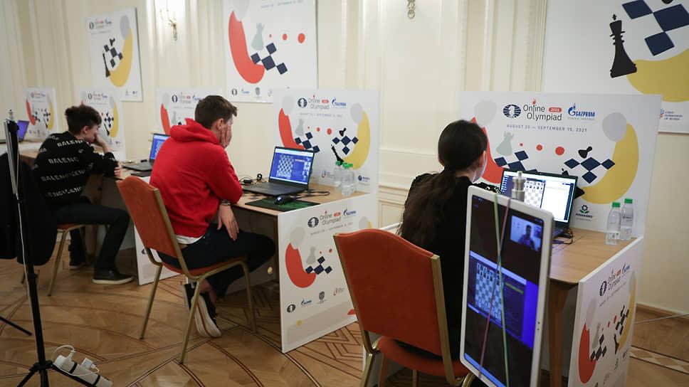 Финал шахматной онлайн-олимпиады между шахматистами из России и США